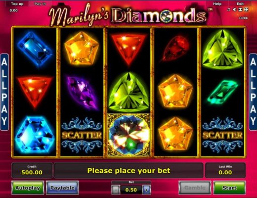 Marilyn's Diamonds Online Video Slot Game For All Slots Players
